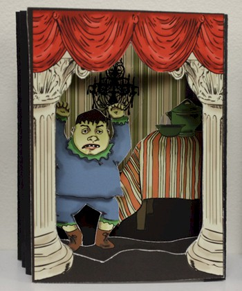 The Story of Augustus Who Would Not Eat His Soup (based on the Struwwelpeter by Heinrich Hoffman), 2010 6 Tunnel Books (with 6 texts cards and stands), Box: 5 x 11 x 8.5 inches, edition of 20.
