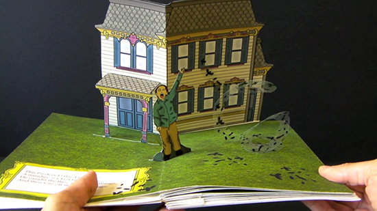 Cruel Frederick, from The Struwwelpeter series, 2014 A seven single pop-up books in a handmade case digitally printed on Moab paper with pigmented ink, 9 x 6.25 inches, edition of 5.