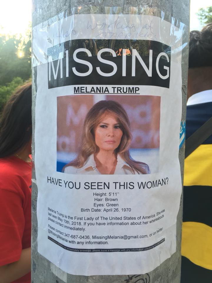 Have you seen this woman? (Missing: Melania Trump)