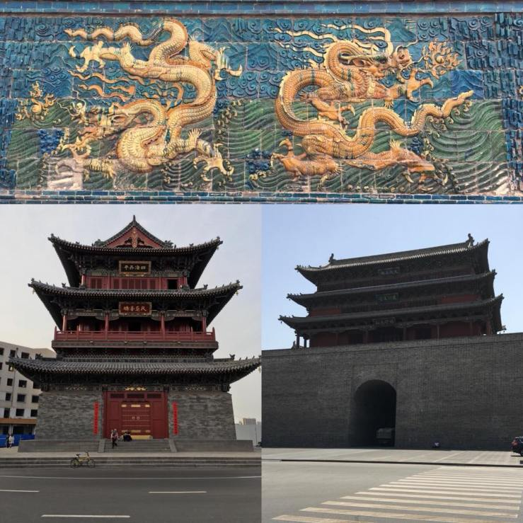 The Datong Drum, the 9 Dragon Wall, the New City Wall, the Shuanha Monastery, the Huayan Temple.