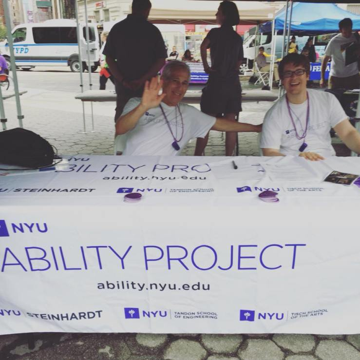 At the NYC Disability Pride Parade with the NYU Ability Project and Allan and Jason!