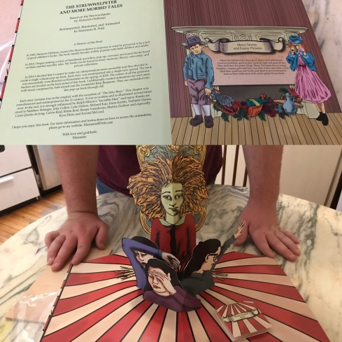"""The Struwwelpeter and More Morbid Pop-Up Tales"" sample book: Merry Stories and Funny Pictures and the Story of Shockheaded Peter"