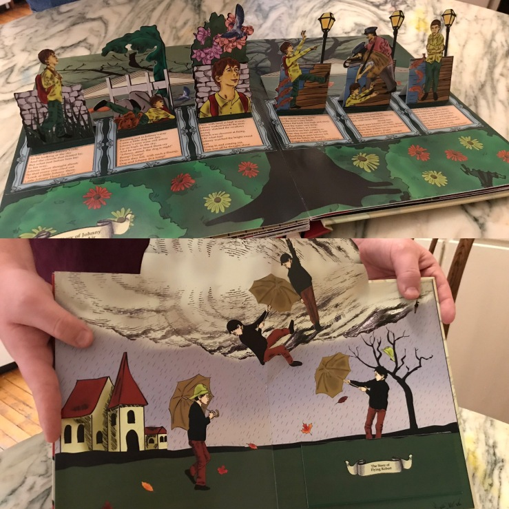 """The Struwwelpeter and More Morbid Pop-Up Tales"" sample book: The Story of Johnny Head in the Air and the Story of Flying Robert"