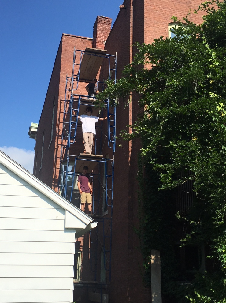 Scaffolding and Chimney Repair!