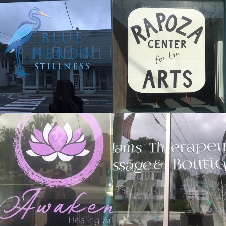 Summer street now has art classes, yoga and meditation classes, therapeutic massage, and assorted other healing arts.